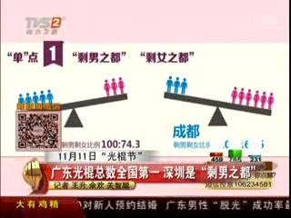 广东光棍总数全国第一 深圳是剩男之都