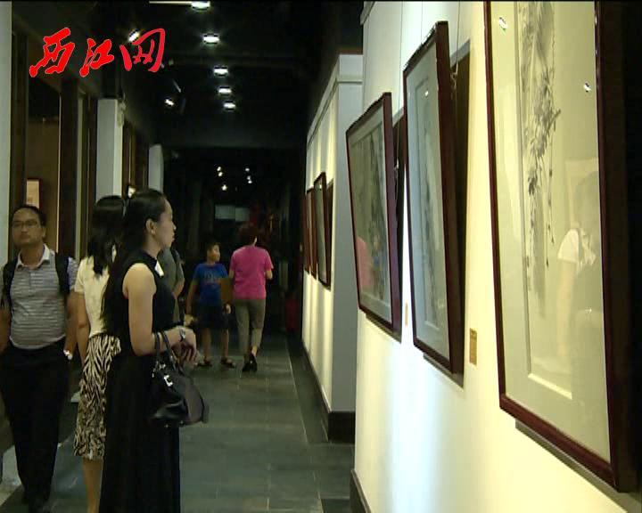 花雨烟霞·谢曙光中国画展在中国端砚馆展出