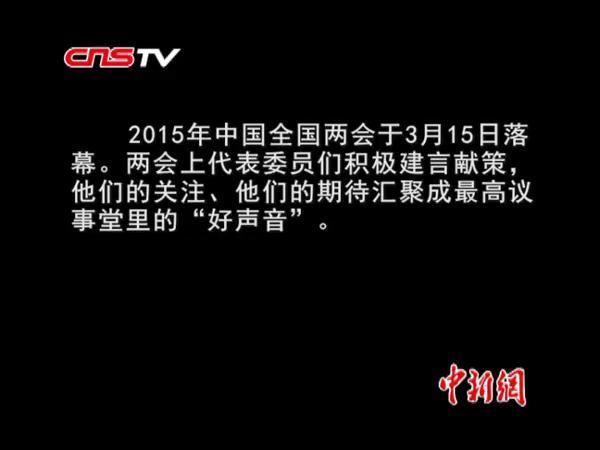 """盘点2015中国两会上的""""好声音"""""""