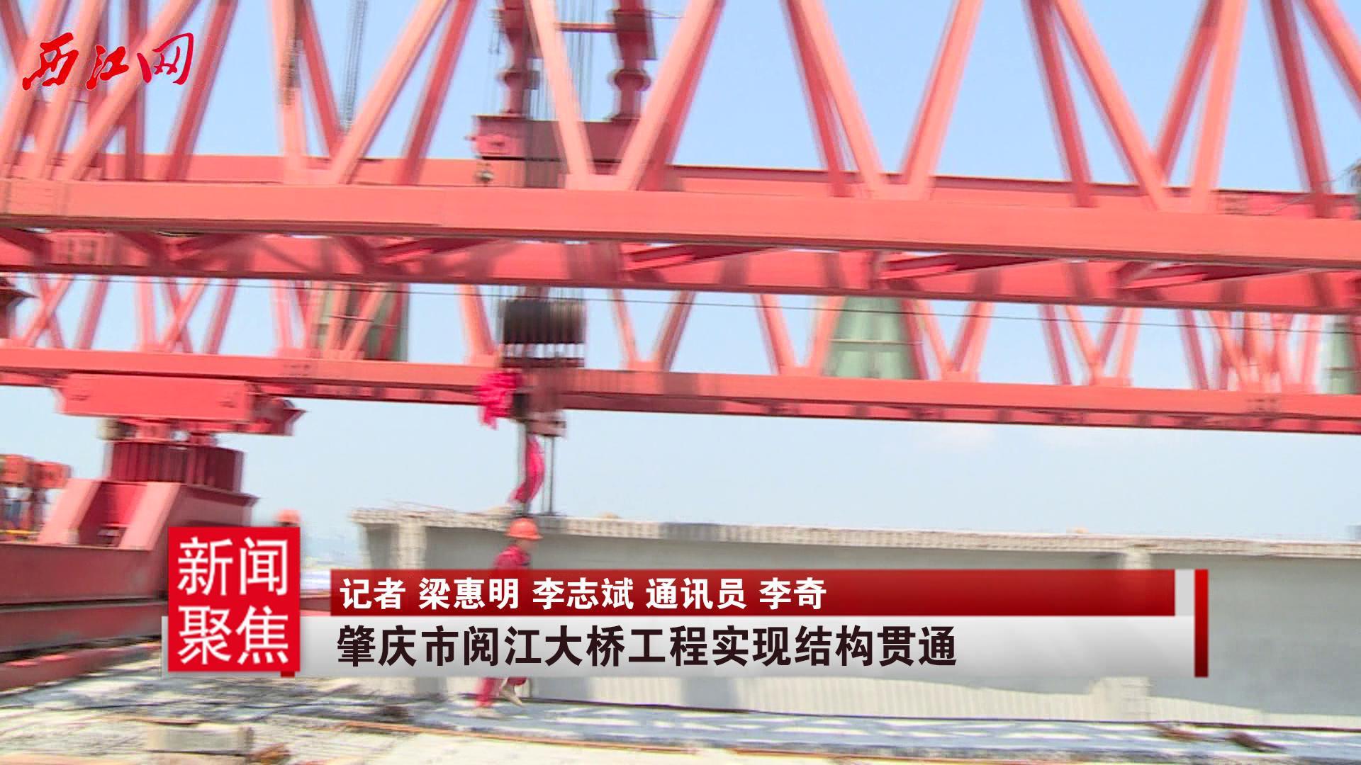 肇庆市阅江大桥工程实现结构贯通