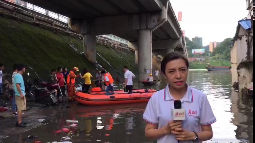 记者赶赴封开洪涝一线现场