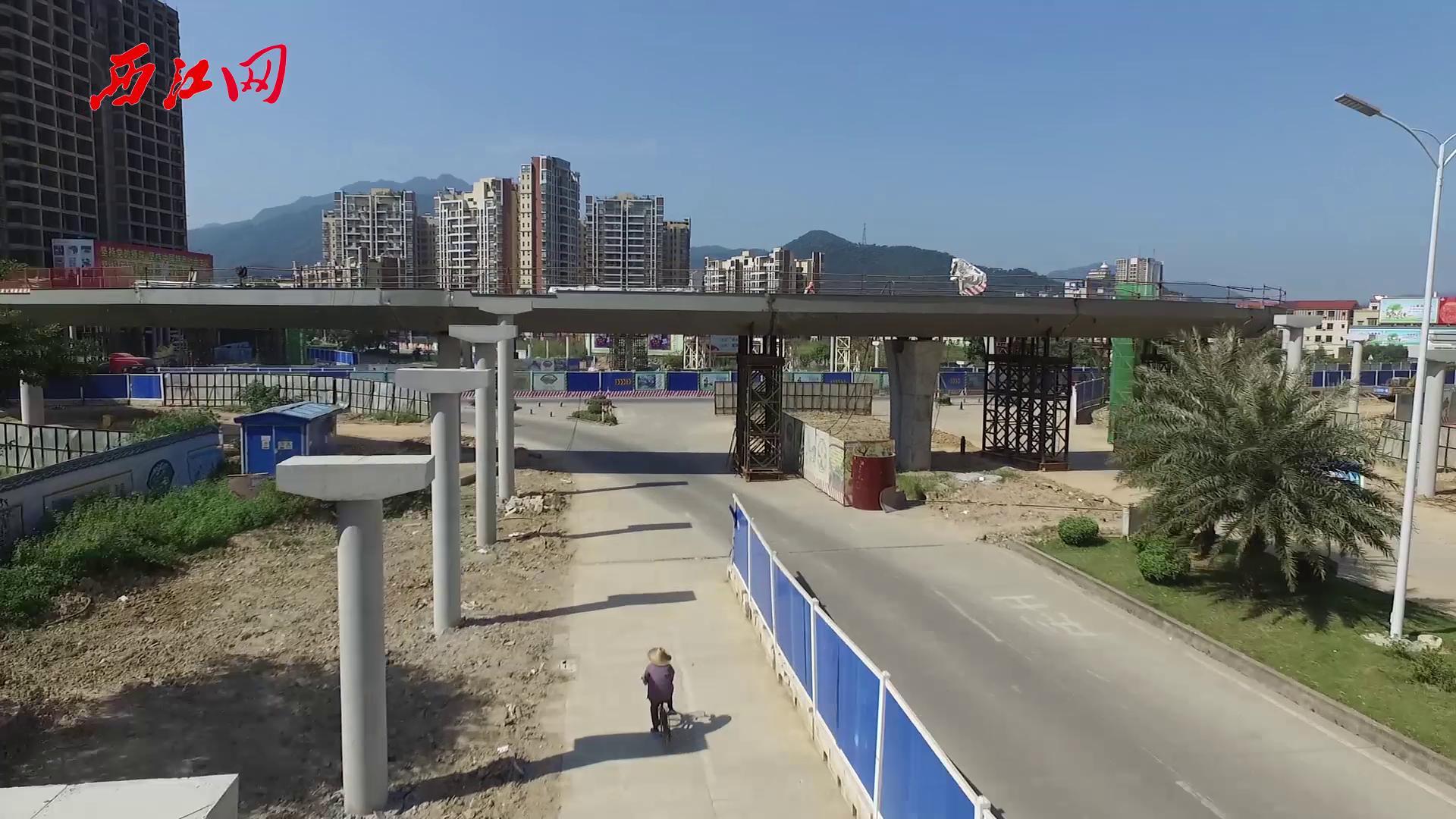肇慶鼎湖區環形天橋合龍航拍
