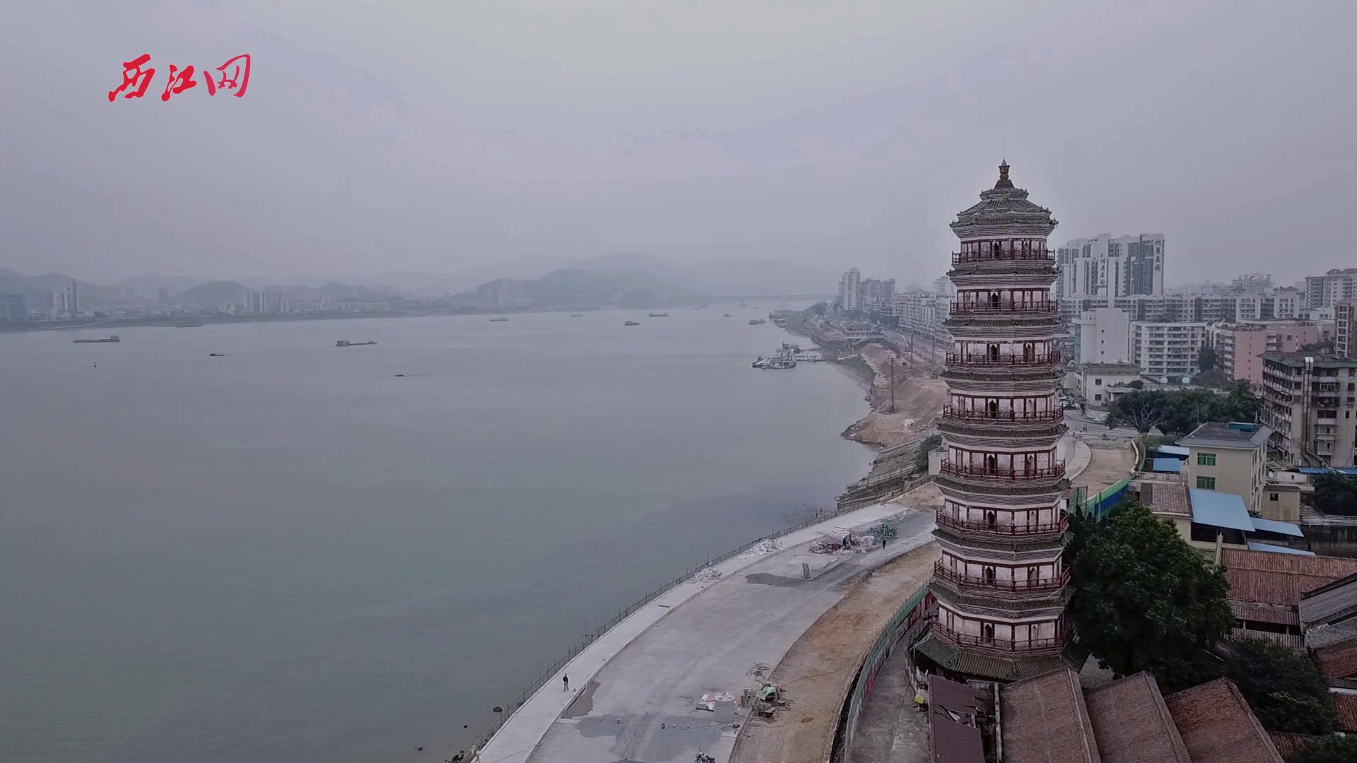 景福围江滨堤路升级改造工程航拍