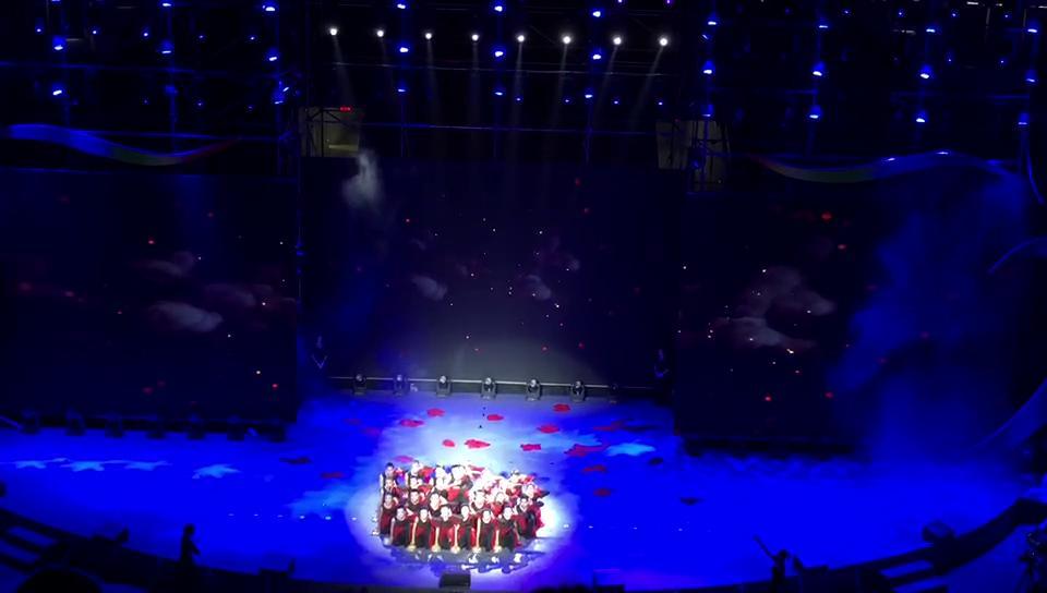 广东省第八届残疾人运动会闭幕式《第一篇章》心鼓表演