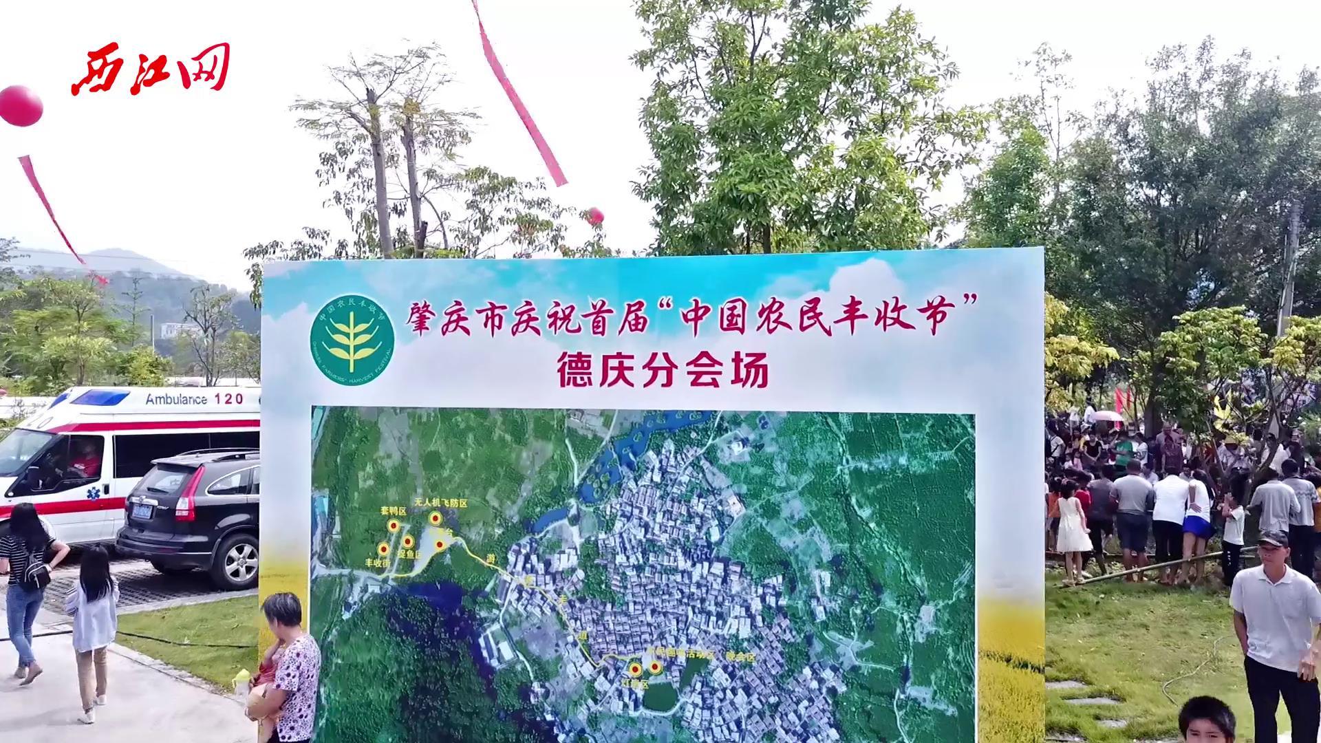 庆祝首届中国农民丰收节 德庆分会场航拍