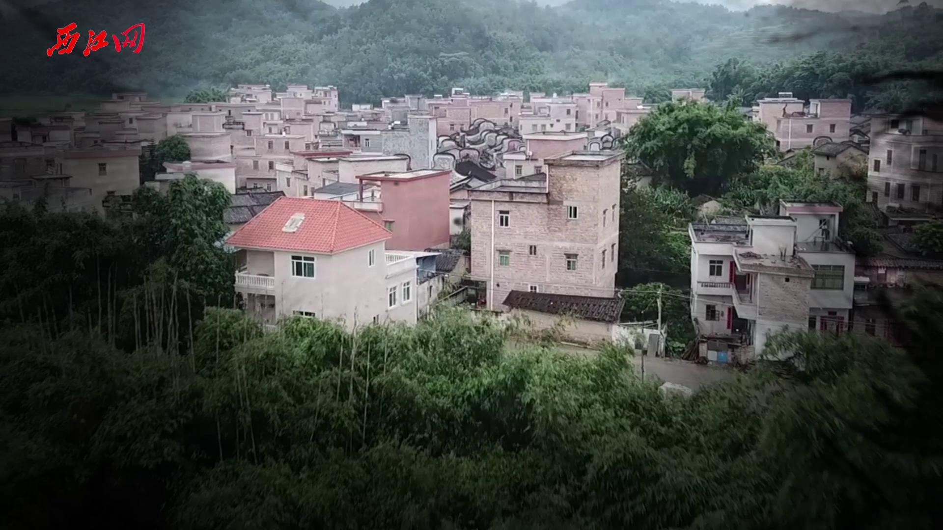 乐城镇思可村古建筑群航拍