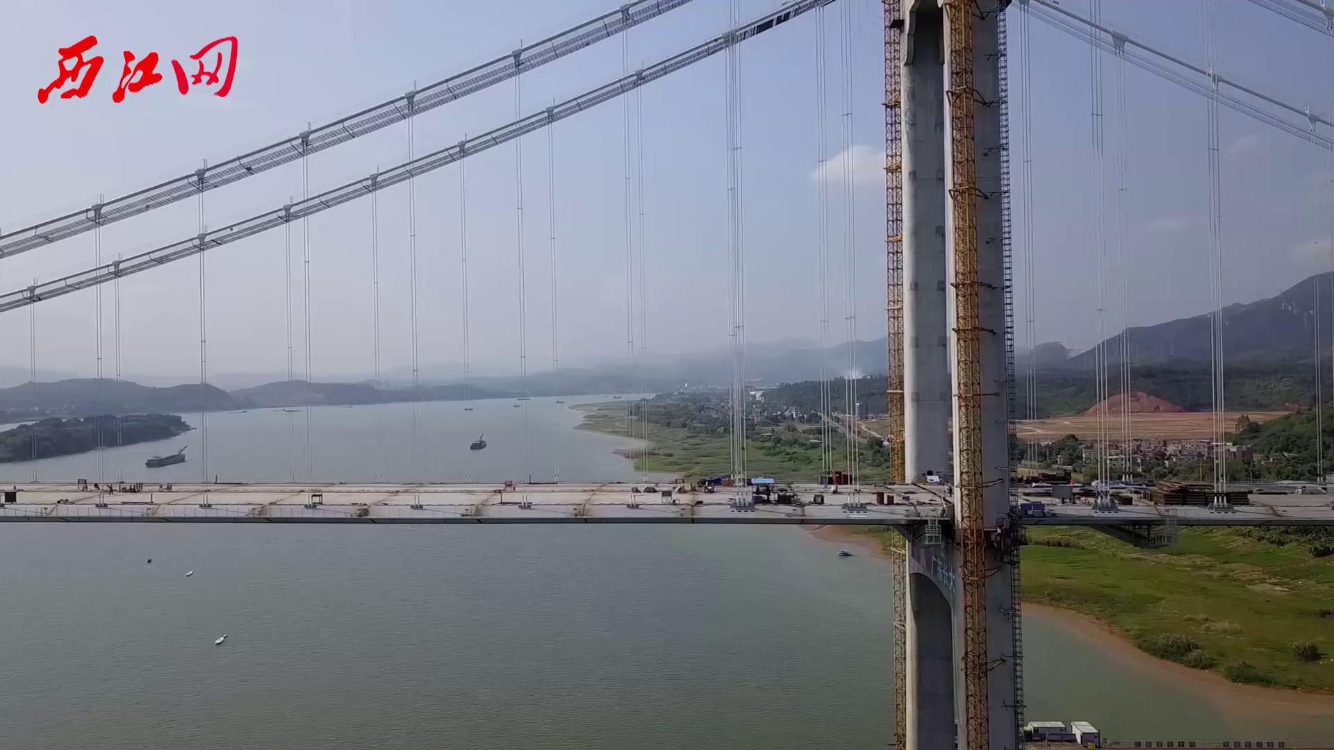 震撼航拍!西江流域广东境内最大跨径悬索桥——清云高速公路西江特大桥全桥贯通!