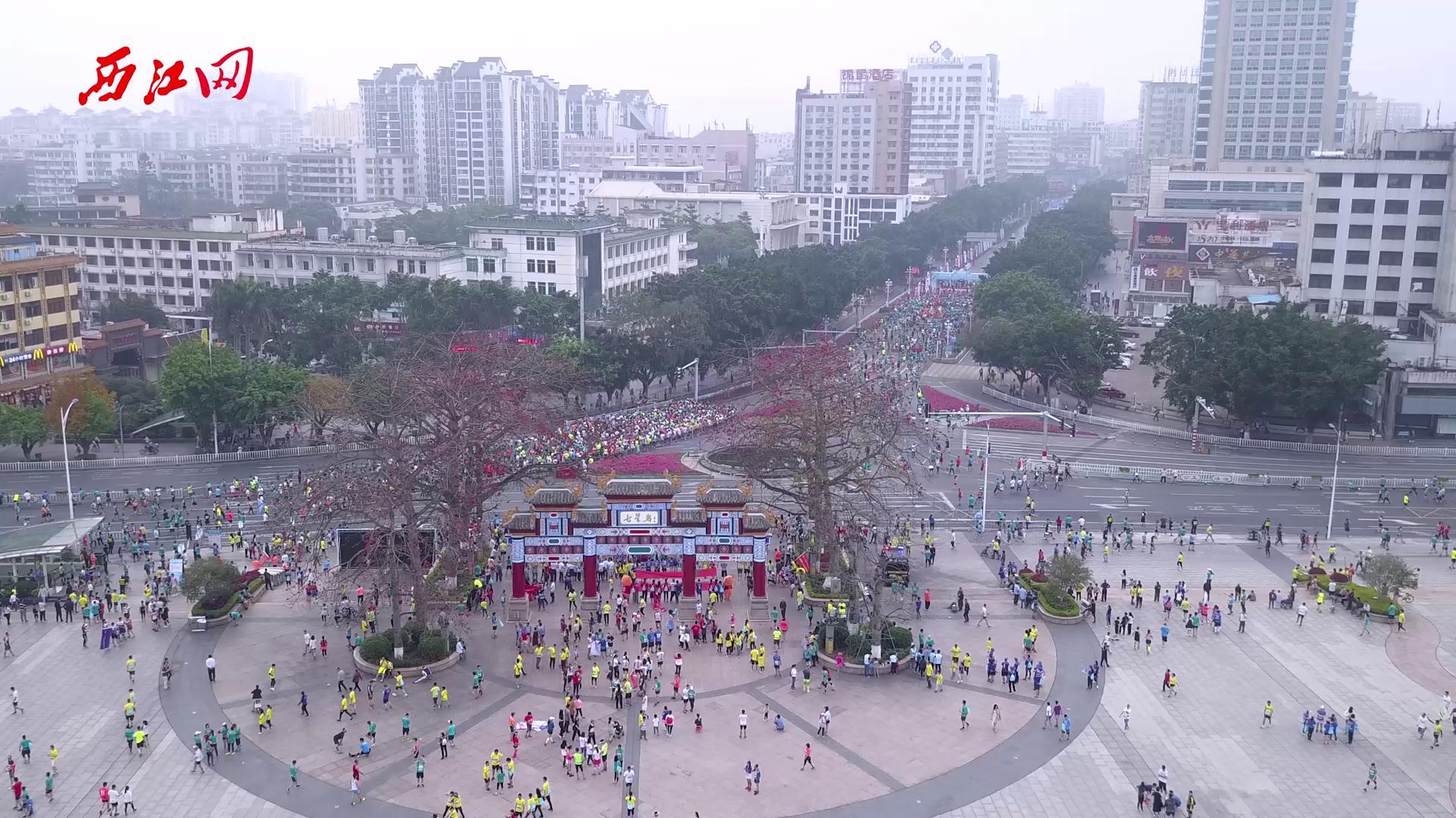 白菜送38彩金国际马拉松航拍花絮