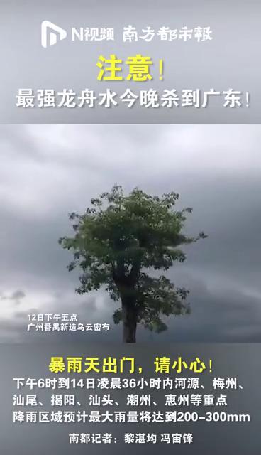 注意!最强龙舟水今晚杀到广东!