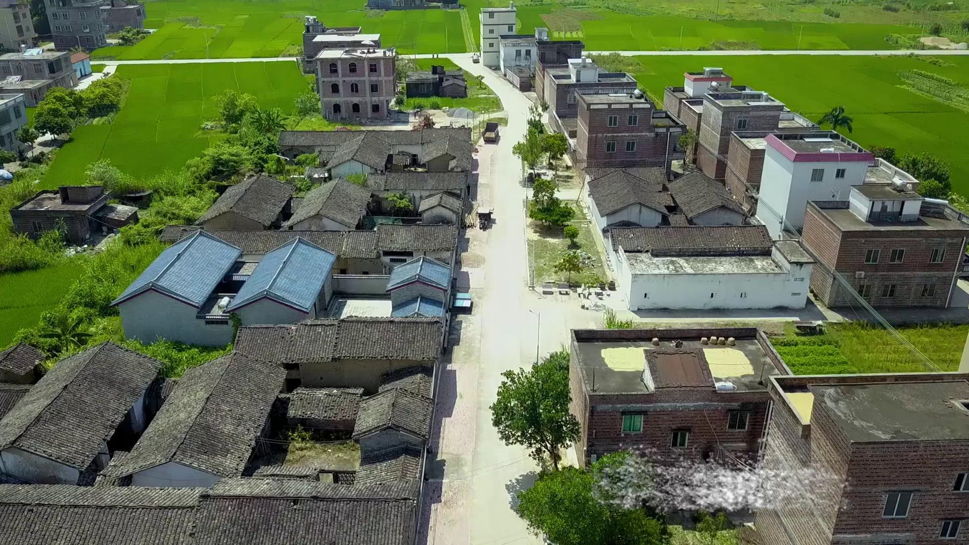 怀集县新农村航拍视频