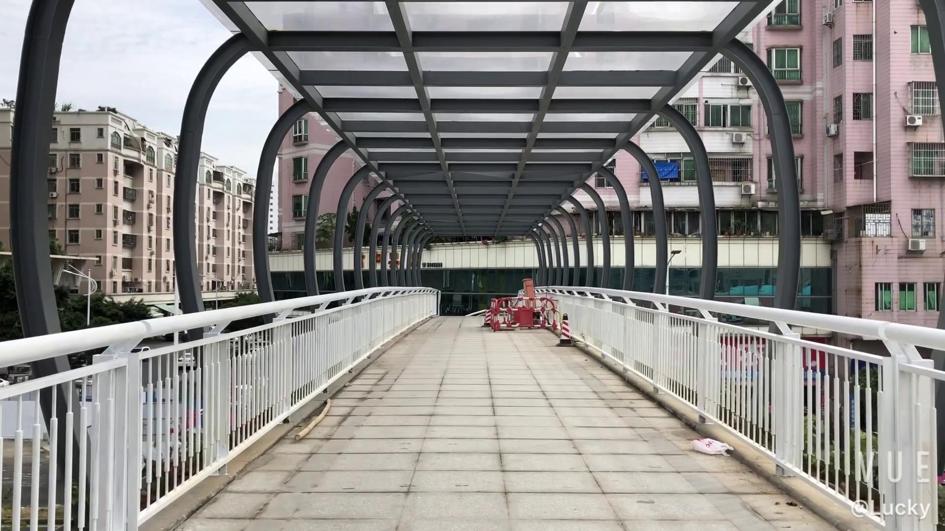 端州区又一处新增的人行天桥即将上线,方便桥北路与大桥路附近市民出行