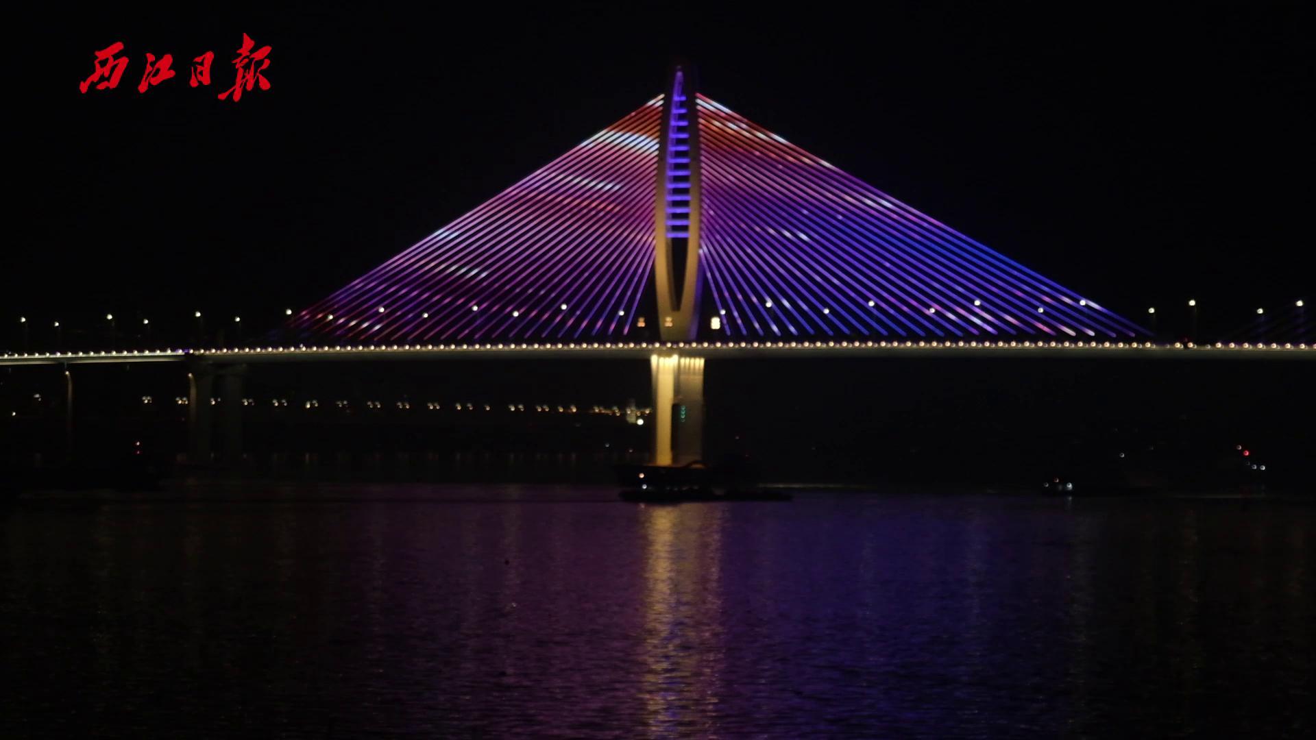 閱江大橋全新燈飾夜景驚艷亮相
