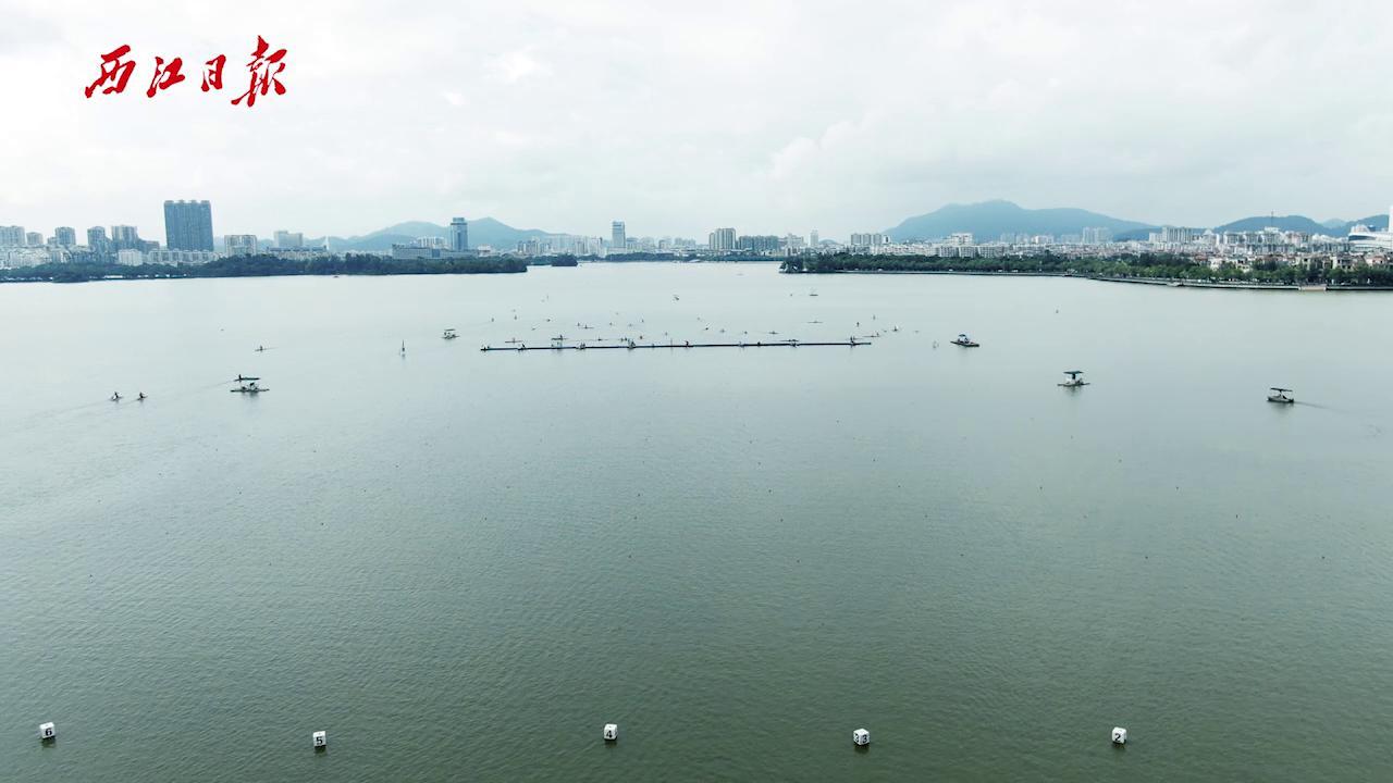 """星湖上演200米皮划艇""""速度与激情"""""""