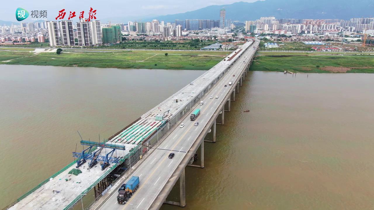 肇庆大桥扩建工程主桥顺利合龙!
